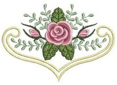 Pearl Roses 2 - 4x4 | Floral - Flowers | Machine Embroidery Designs | SWAKembroidery.com Ace Points Embroidery