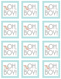 sugartotdesigns: Oh, Boy! {Free Printable}