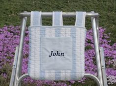 Walker or Wheelchair Bag Quilted Blue by RoseRidgeCreations, $39.99