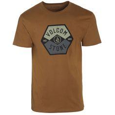 Camiseta/T-Shirt/Mens Volcom Miners Rust Street Skate Urban