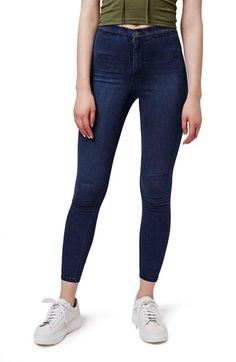 Topshop 'Joni' Crop Super Skinny Jeans (Petite) available at #Nordstrom