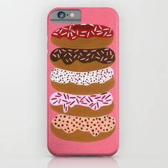 Stacked Donuts on Cherry iPhone & iPod Case