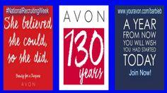 Join Avon - Become an Avon Representative - visit https://barbieb.avonrepresentative.com and click the 'join now' button #SellAvon #NationalRecruitingWeek #AvonRep