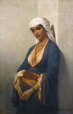 La Fidèle. Oil on Canvas. 1866. Charles Emile Hippolyte Lecomte-Vernet (French, 1821-1900). Private Collection.