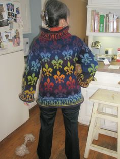This is not an ad for the sweater itself -- its to purchase the pattern for knitting the sweater out of Kauni Effektgarn. Includes charts and
