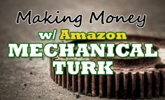 [Got a fresh new hustle to share with y'all today! My man Michael Naab walks us through the world of making extra money using . Make Money On Amazon, Way To Make Money, Make Money Online, Hustle Series, Amazon Mechanical Turk, Amazon Fba Business, What Is Amazon, Investing Money, Saving Money