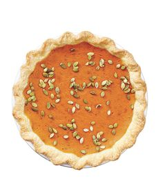 Gingery Pumpkin Pie | Get the recipe: http://www.realsimple.com/food-recipes/browse-all-recipes/ginger-pumpkin-pie-00100000089322/index.html