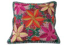 """Pillow w/   Guatemalan  Textile  Guatemala  18""""L x 17""""W  ($189.00)  $129.00  OneKingsLane.com"""