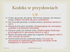 Kodeks klasowy 2.0...w przysłowiach :)