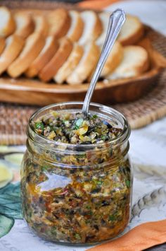 Quick Olive Tapenade using black and green California olives! So quick and easy, you will never buy tapen Quick Olive Tapenade using black and green California olives! So quick and easy, you will never buy tapenade from the store again! Vegetarian Recipes, Cooking Recipes, Healthy Recipes, Fingers Food, Olive Recipes, Recipes With Olives, Greek Recipes, Tasty, Yummy Food