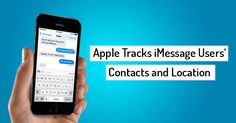 Apple Tracks Who You're Chatting Using iMessage — and Shares that Data with Police.