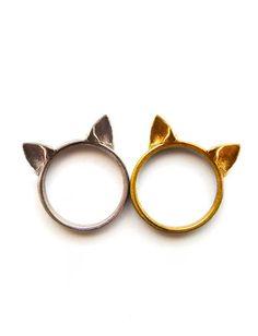 Cat rings! @Erin B B Sobecki @Kaitlyn Marie Mattson Boilard