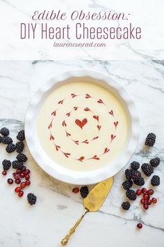 Edible Obsession: DIY Heart Cheesecake
