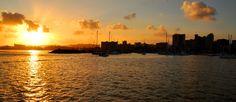 Sunset in Durban Harbour