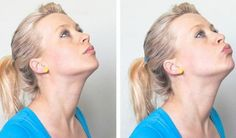 Looking for a way to get rid of neck fat and double chin fast? Your facial muscles need exercise to tone and tighten the skin on your face. Here are 7 Best Exercises to Get Rid Of Double Chin Fat and Neck Fat Fast. Lose Arm Fat, Lose Weight, Reduce Face Fat, Reduce Double Chin, Double Chin Exercises, Natural Face Lift, Corps Parfait, Face Exercises, Fat To Fit