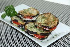 Auberginen mit Knoblauch und Tomaten