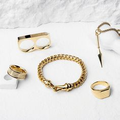 A few of our favourite gold pieces from the new collection plus some classics! Head over to vitalydesign.com to check them out now! #vitaly #fashion #gold