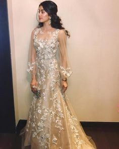 Bollywood Fashion 168673948527596942 - Jhanvi Kapoor latest bollywood fashion trends at Zeenat. From vibrant Lehenga choli to elaborate gowns, Jhanvi Kapoor is sure to give you some inspiration Source by paisleysandwine Indian Wedding Outfits, Bridal Outfits, Indian Outfits, Bridal Dresses, Indian Weddings, Indian Gowns, Indian Attire, Pakistani Dresses, Manish Malhotra Dresses