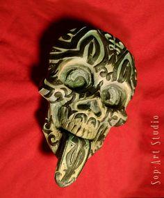 Maori skull AKA Tony Rocky Horror by Christopher Soprano ( Sop-Art Studio )