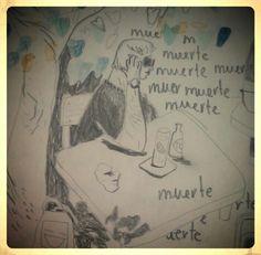 Dibujo de Isabel Vila para el fanzine Le Piragüiste núm 1.