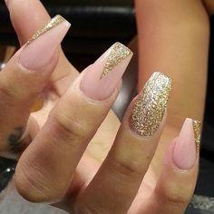 Instagram photo by thenailboss #nail #nails #nailart / nude and gold nail design