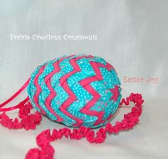 Quilted Ornament Layered Speckled Egg by MyPrairieCreations