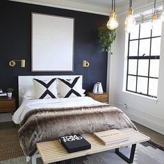 Best Modern Blue Bedroom for Your Home - bedroom design inspiration - bedroom design styles - bedroom furniture ideas - A modern theme for your bedroom can be simply achieved with strong blue wallpaper in an abstract layout as well as patterned bedlinen. Bedroom Colors, Home Decor Bedroom, Bedroom Furniture, Bedroom Ideas, Cozy Bedroom, Bedroom Inspiration, Modern Furniture, Trendy Bedroom, Bedroom Inspo