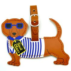 Dachshund luggage tag. These beautiful tags make heads turn!