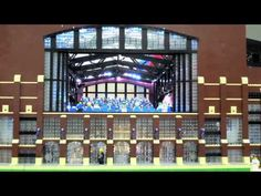 Superbowl stadium made from Legos superbowl, lego mania, lego video