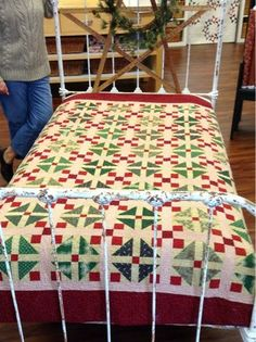 Temecula Quilt Co Shoo-fly and 9patch. Looks like Shoo-fly is block with a square in the corner. Add sash to complete the 9patch. Easy Peasy and darn cute!