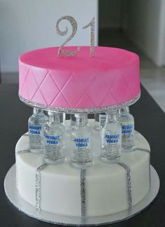 21st booze hag cake :) I want to make this one day!