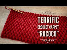 """ПОТРЯСАЮЩИЙ КОВЕР КРЮЧКОМ 🥀 """"ROCOCO"""" 🥀 ВЯЖЕМ ИЗ ОСТАТКОВ ПРЯЖИ!!! 💥 / HOW TO CROCHET A CARPET - YouTube Crochet Stitches, Crochet Patterns, Crochet Rugs, Crochet Carpet, Rococo, Free Crochet, Zip Around Wallet, Blanket, Pillows"""