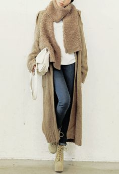 floor length gemoetric cardigan | Fashion | Pinterest | Street ...