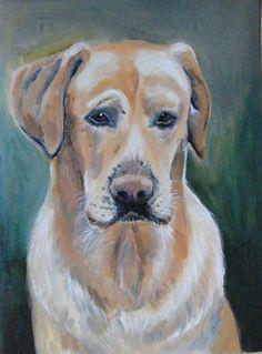 Dog portrait - oil painting