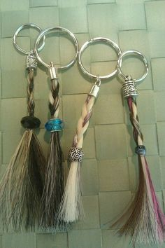 horse hair key chains | Key Chains - Braided Heartstrings - Horse Hair Bracelets by Candace