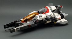 space ship made of LEGOs -- by dasnewten on Flickr - Gz-81 Naganata - notice the cockpit glass is orange