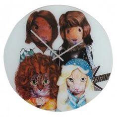 Horloge design chats et hamsters abba