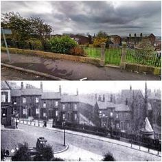 """Prince Rupert's Tower ( a lock up - bottom right) ,Everton, Liverpool - Now and then picture. Bit of a reverse twist on the saying """" When I was a kid this was all fields """" LOL ! Liverpool Town, Liverpool History, Old Pictures, Old Photos, Everton Fc, Local History, The Good Place, Past, Places"""