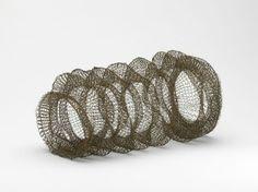 Cuff Bracelet   Arline M. Fisch.  Coated copper wire; machine-knit. c. 1985