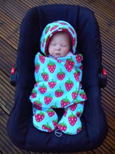 Car Seat Cosy Wrap Swaddle Blanket Baby Duckegg Blue by SiennaChic, £24.99