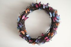 My handmade butterfly wreath. http://www.sashe.sk/deliciousdame/detail/motyli-veniec