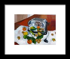 Still Life Framed Print featuring the painting The Toaster by Carmen Stanescu Kutzelnig Hanging Wire, Toaster, Still Life, Fine Art America, Framed Prints, Painting, Toasters, Paintings, Draw