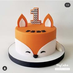 Great Photo of Fox Birthday Cake . Fox Birthday Cake Fox Theme Birthday Cake K Noelle Cakes Cakes K Noelle Baby Birthday Cakes, Baby Boy 1st Birthday, Boy Birthday Parties, Fox Cake, Fox Party, Animal Birthday, First Birthdays, Baby Shower, Ideas