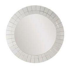 "House Beautiful Marketplace house beautiful marketplace greek key round mirror 15"" in diameter"