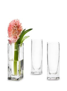 Clear glass square bud vases wedding event centperieces floral party event supplies DIY bride groom romantic wedding tv set stage props home decor