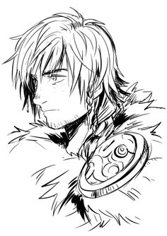 Hiccup wearing Stoick's Chief Cape-Thing ... - now this is what I call a drawing.
