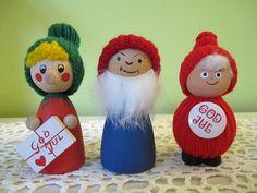 Swedish Wooden Christmas Figures | Vintage trio of Swedish Wood Figures Tomte/Tomten by DoVintique