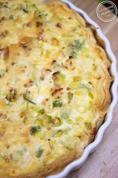 Tarta z porem na spodzie z ciasta francuskiego Tart Recipes, Snack Recipes, Cooking Recipes, Healthy Recipes, Snacks, Good Food, Yummy Food, Best Pie, Egg Dish