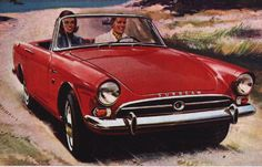 1960 Sunbeam Alpine, another wreck that I bought and used for the Hillman
