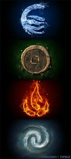 Water, Earth, Fire, Air The four elements, the four nations. Avatar the Last Airbender: The Legend of Aang Fantasy Kunst, Fantasy Art, Wiccan, Magick, Element Tattoo, 4 Elements, Four Elements Tattoo, Elements Of Nature, Tatoo Art